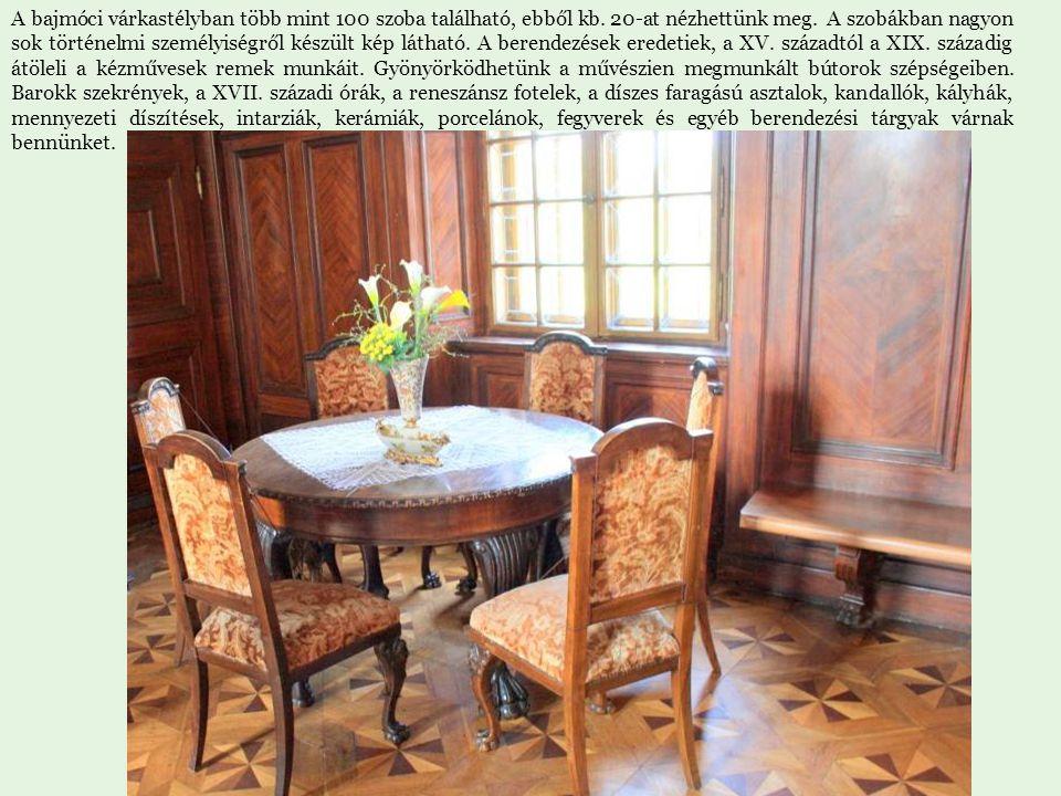 A bajmóci várkastélyban több mint 100 szoba található, ebből kb