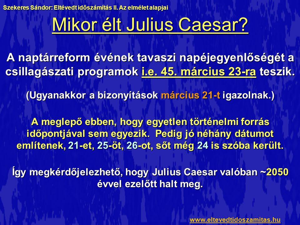 Mikor élt Julius Caesar