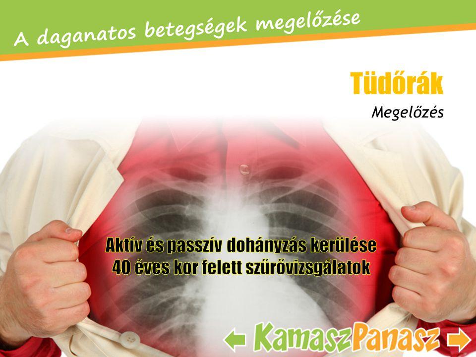 Tüdőrák Aktív és passzív dohányzás kerülése