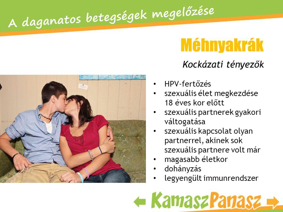 Méhnyakrák Kockázati tényezők HPV-fertőzés