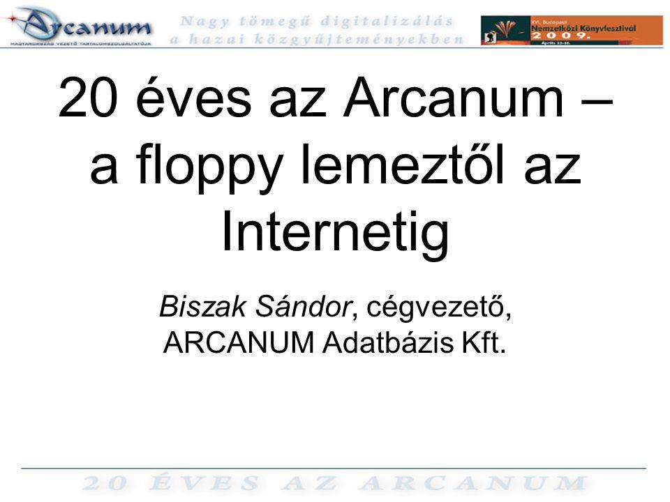 20 éves az Arcanum – a floppy lemeztől az Internetig