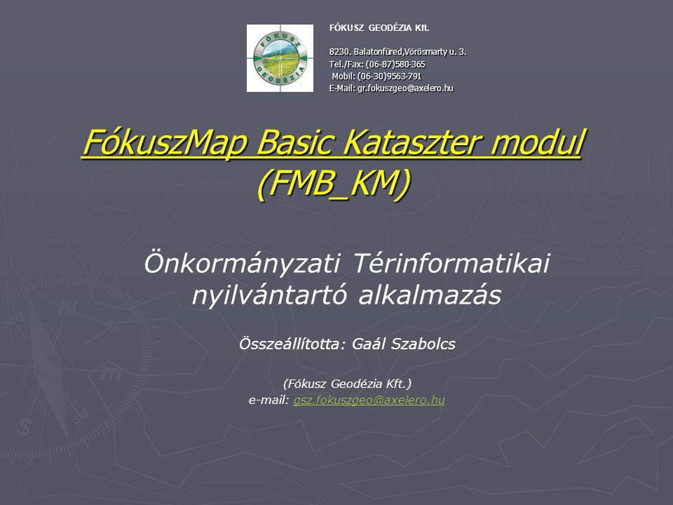 FókuszMap Basic Kataszter modul (FMB_KM)