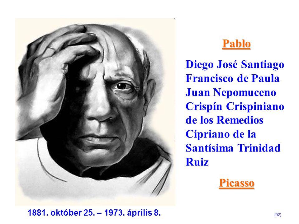 Pablo Diego José Santiago Francisco de Paula Juan Nepomuceno Crispín Crispiniano de los Remedios Cipriano de la Santísima Trinidad Ruiz.