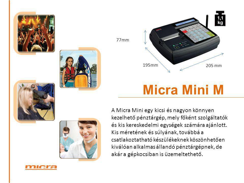 77mm 195mm. 205 mm. Micra Mini M.