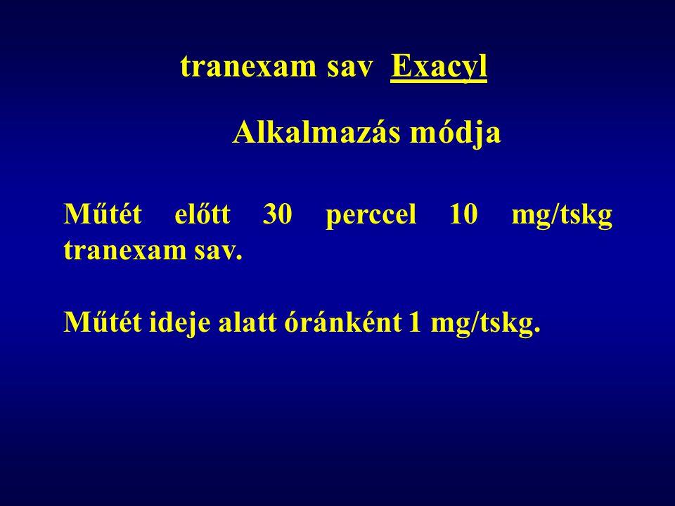 tranexam sav Exacyl Alkalmazás módja