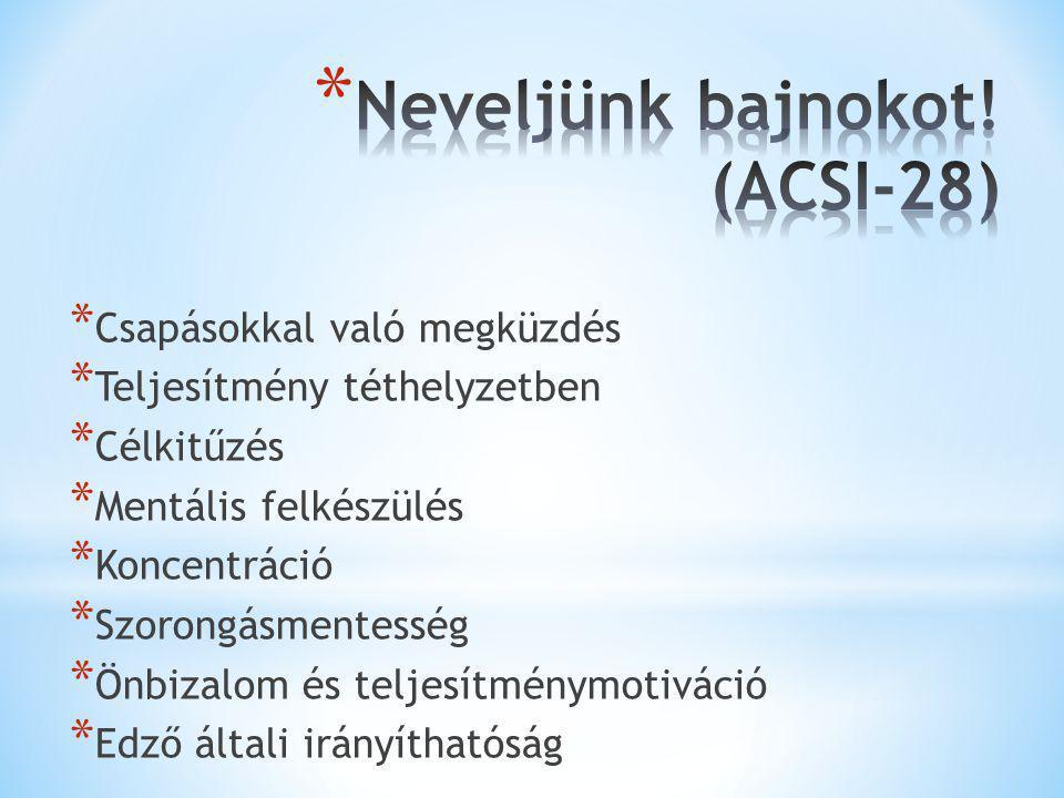 Neveljünk bajnokot! (ACSI-28)