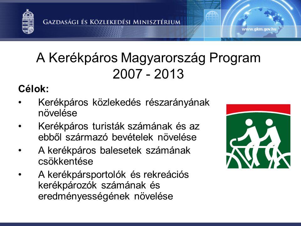 A Kerékpáros Magyarország Program 2007 - 2013