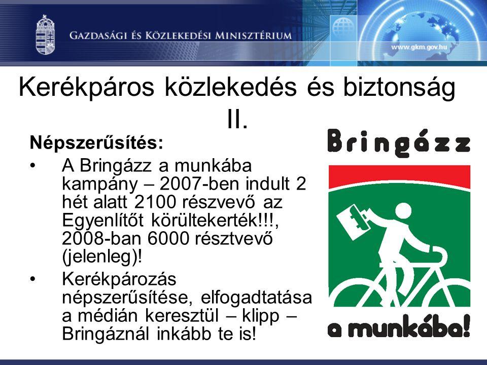 Kerékpáros közlekedés és biztonság II.
