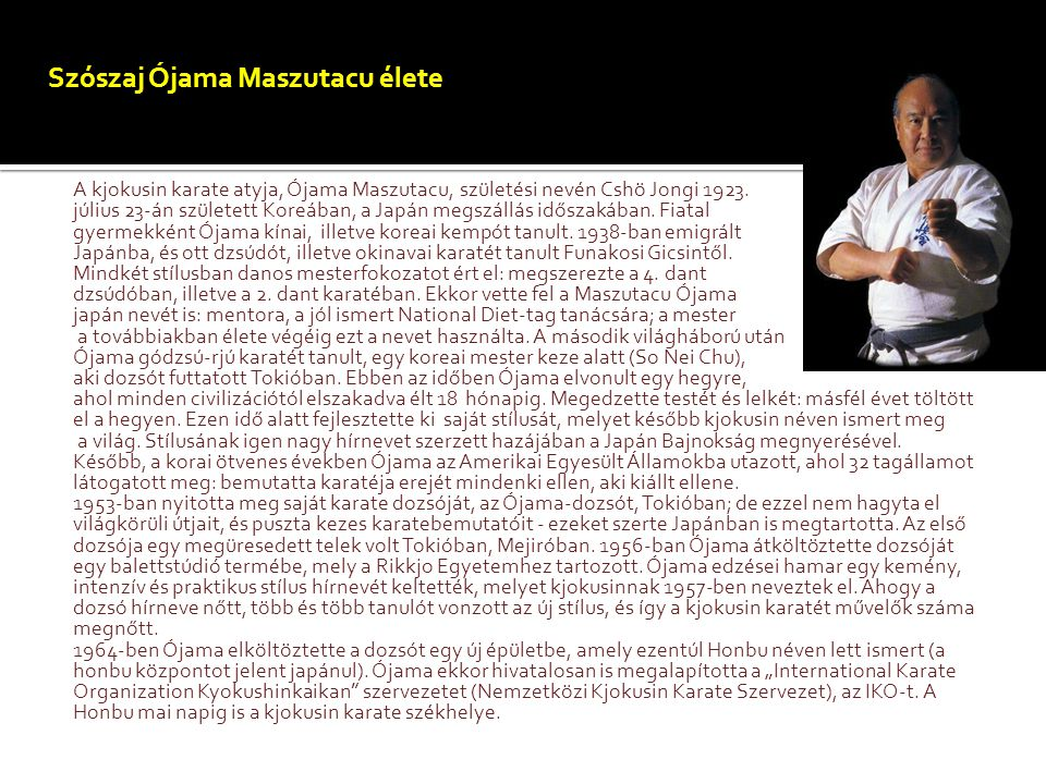 Szószaj Ójama Maszutacu élete