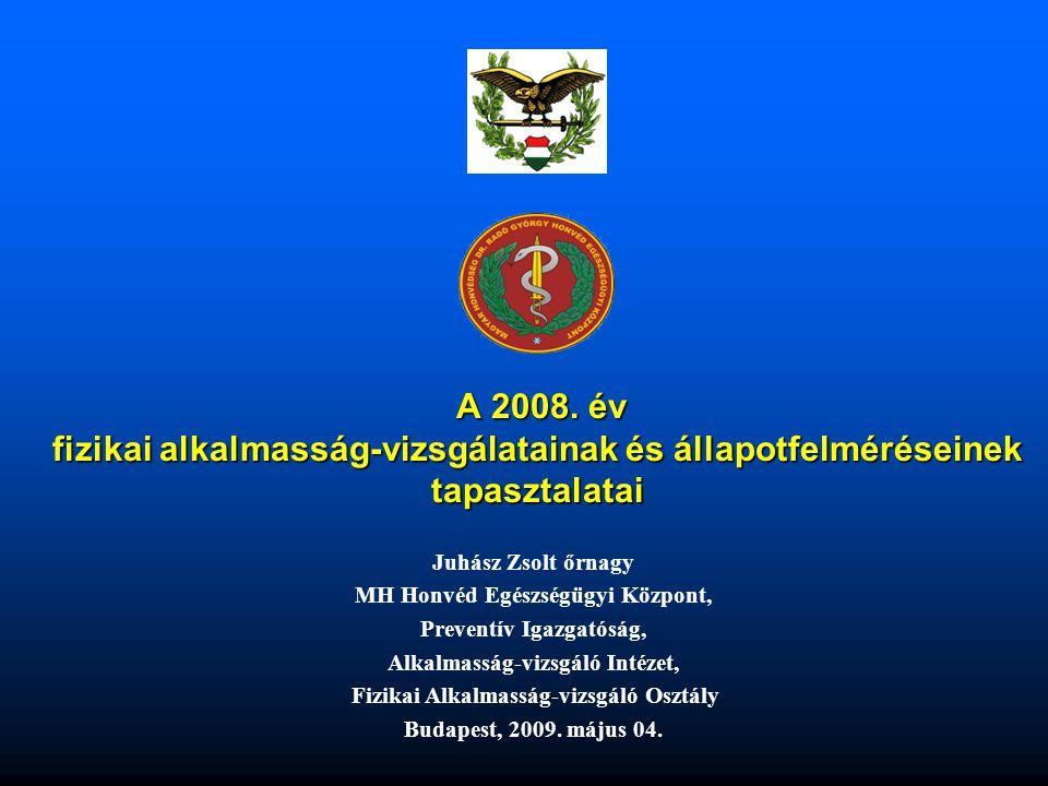 A 2008. év fizikai alkalmasság-vizsgálatainak és állapotfelméréseinek tapasztalatai
