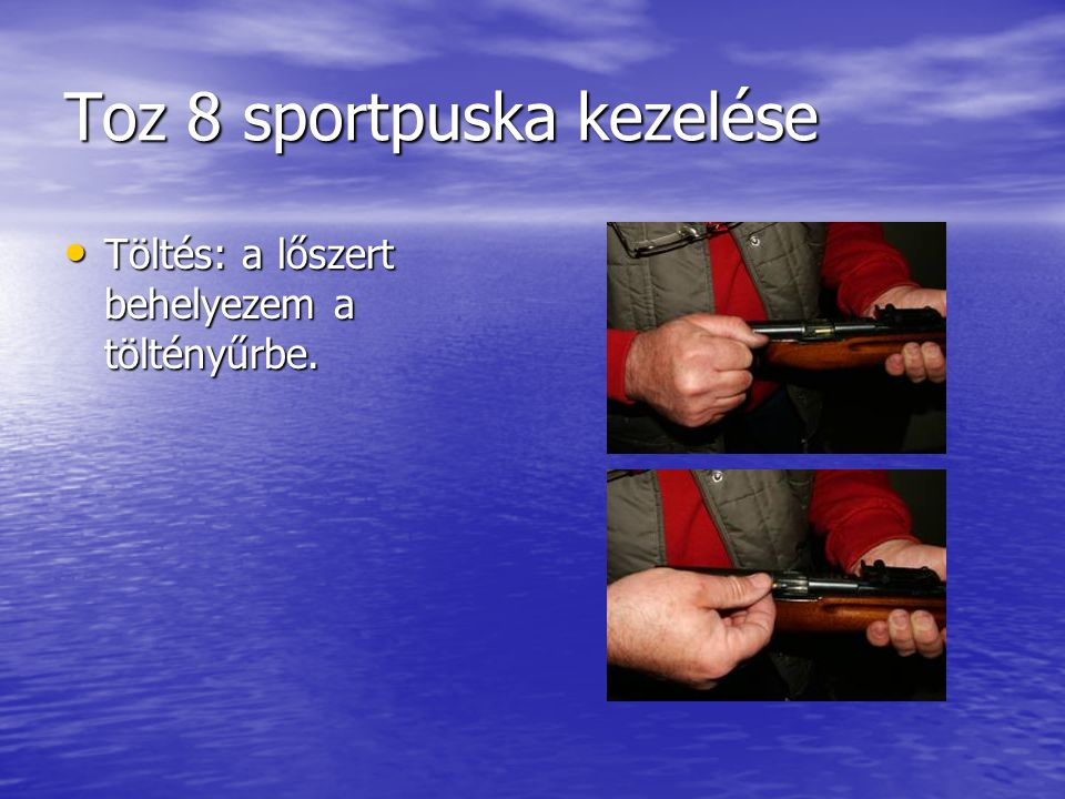 Toz 8 sportpuska kezelése