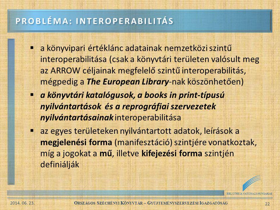 probléma: interoperabilitás