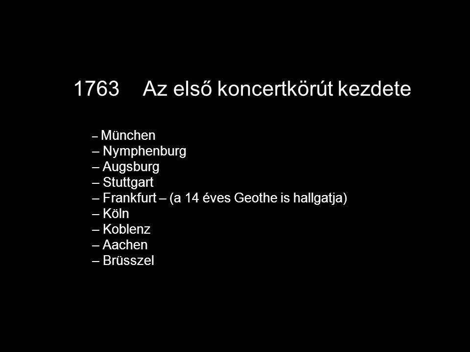 1763 Az első koncertkörút kezdete