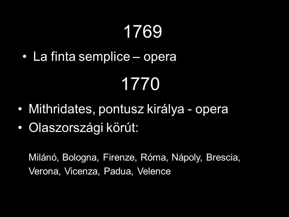 1769 1770 La finta semplice – opera