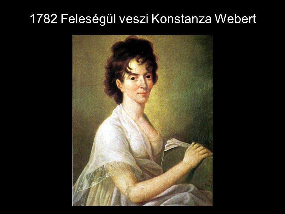 1782 Feleségül veszi Konstanza Webert