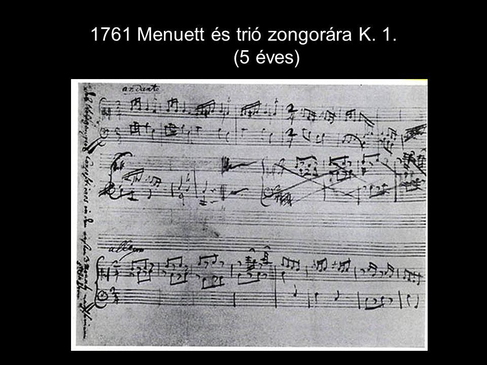 Menuett és trió zongorára K. 1. (5 éves)