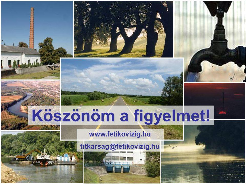 Köszönöm a figyelmet! www.fetikovizig.hu titkarsag@fetikovizig.hu