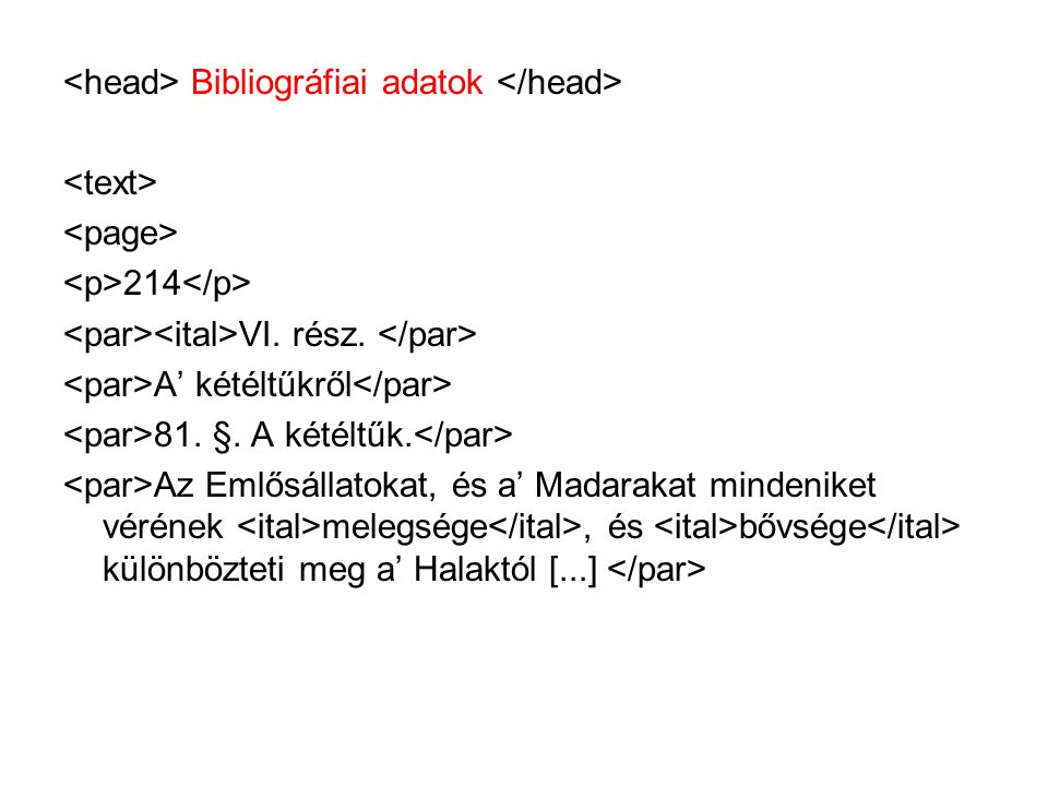 <head> Bibliográfiai adatok </head>