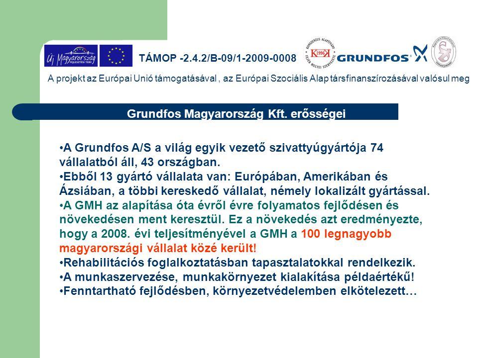 Grundfos Magyarország Kft. erősségei
