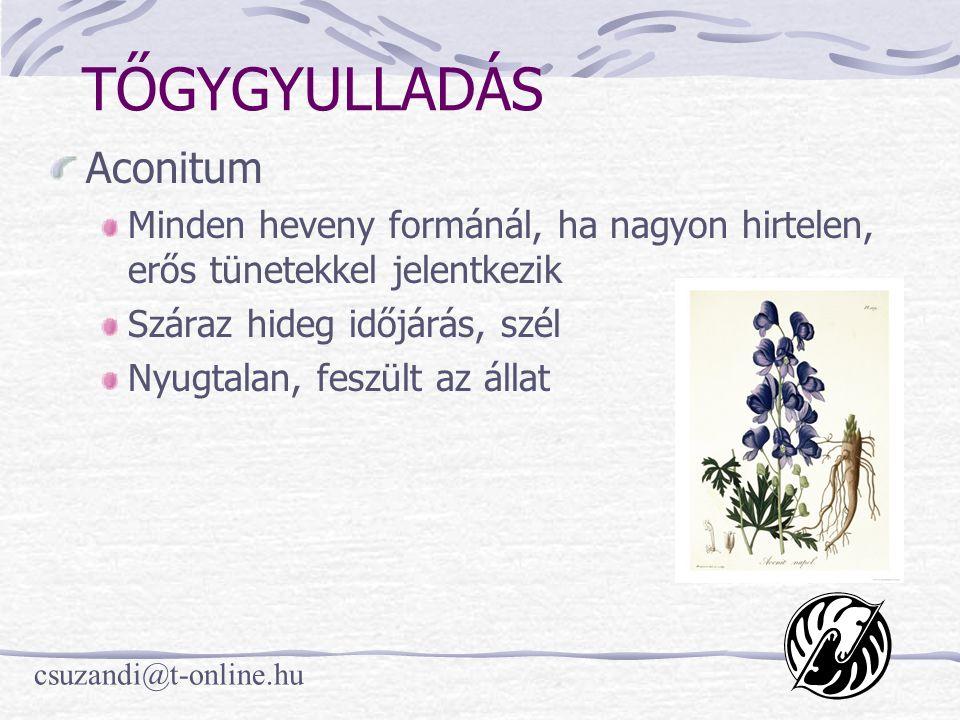 TŐGYGYULLADÁS Aconitum