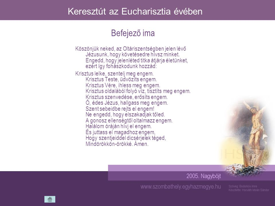 Keresztút az Eucharisztia évében