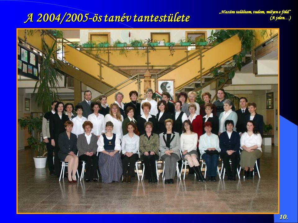 A 2004/2005-ös tanév tantestülete