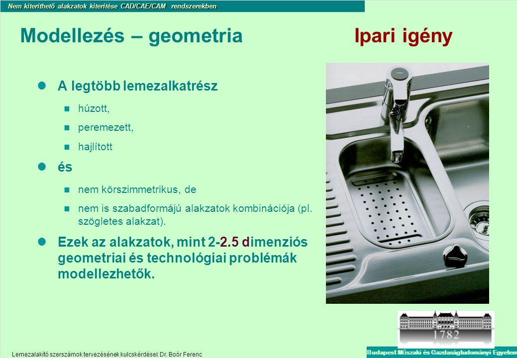 Modellezés – geometria Ipari igény