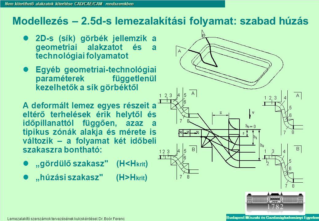 Modellezés – 2.5d-s lemezalakítási folyamat: szabad húzás
