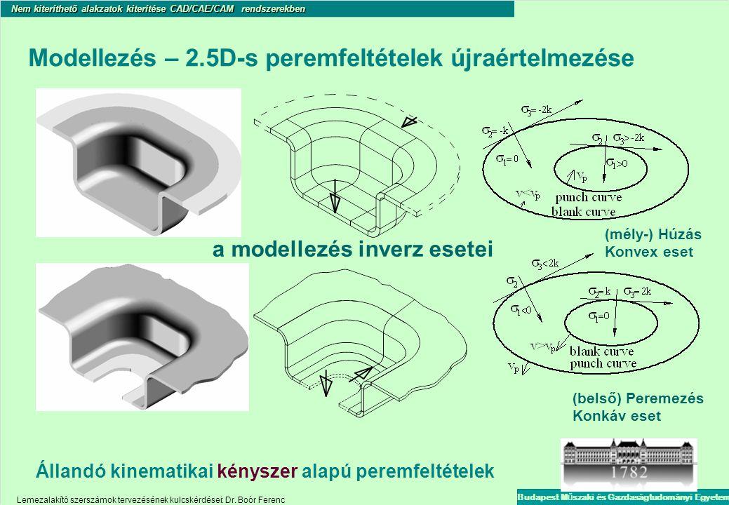 Modellezés – 2.5D-s peremfeltételek újraértelmezése