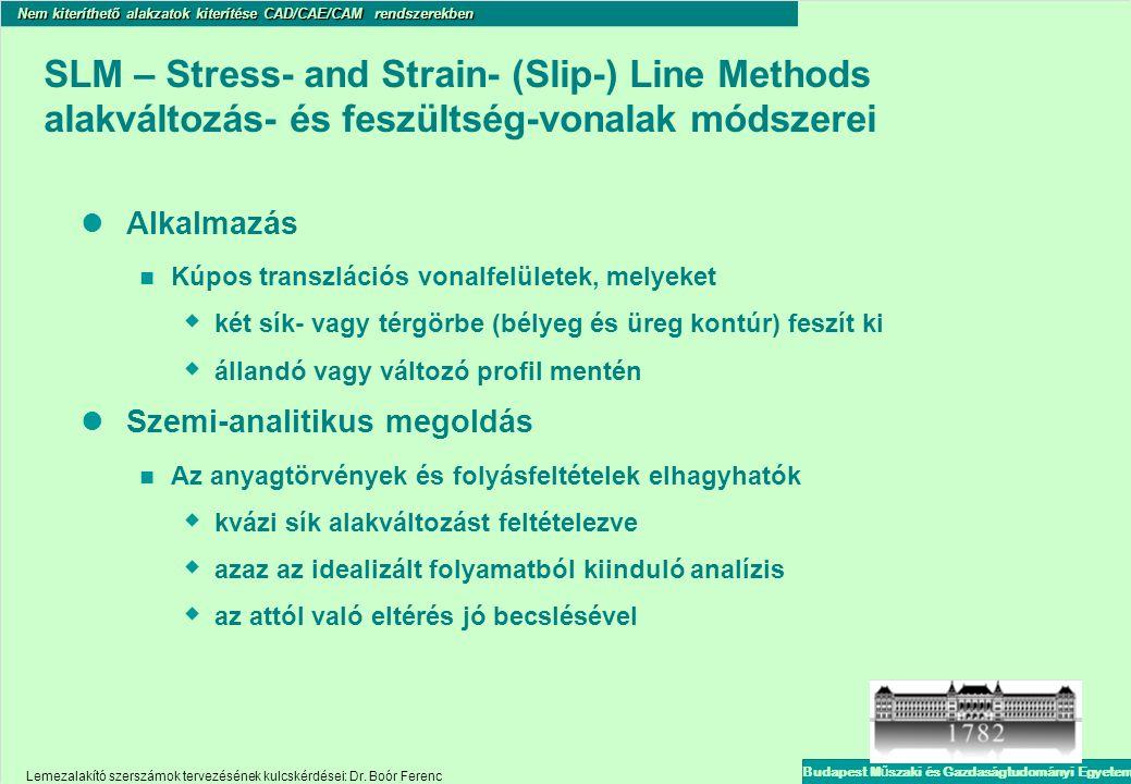 SLM – Stress- and Strain- (Slip-) Line Methods alakváltozás- és feszültség-vonalak módszerei