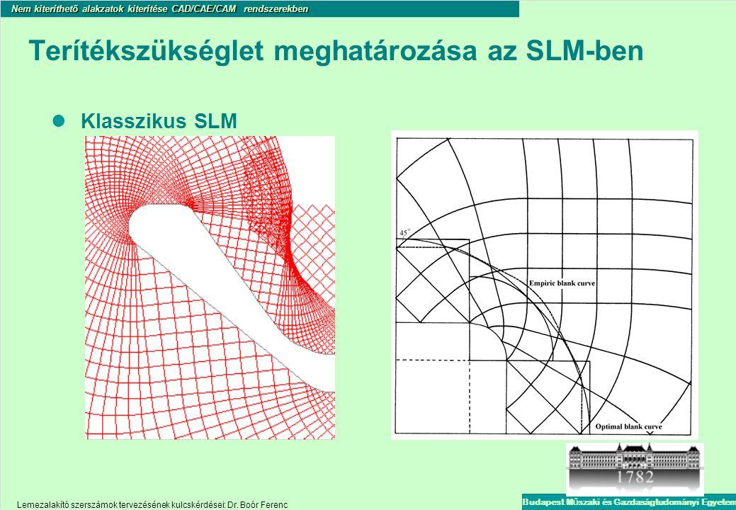 Terítékszükséglet meghatározása az SLM-ben