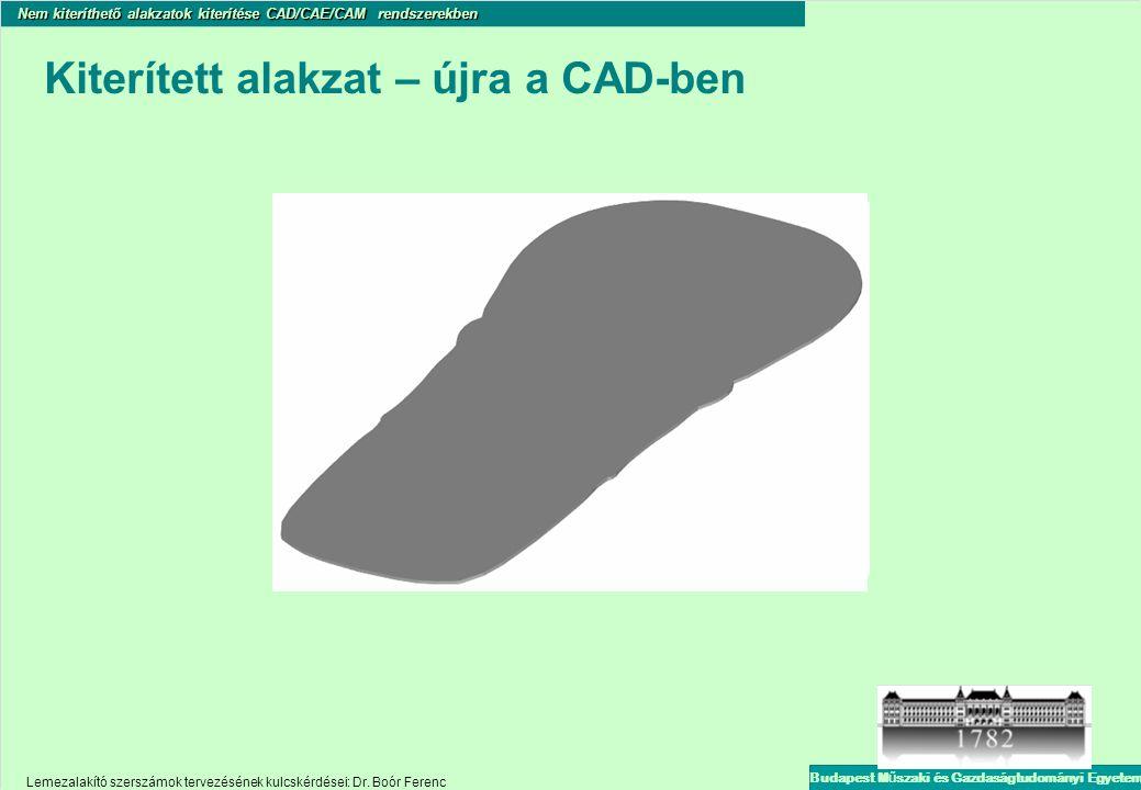 Kiterített alakzat – újra a CAD-ben