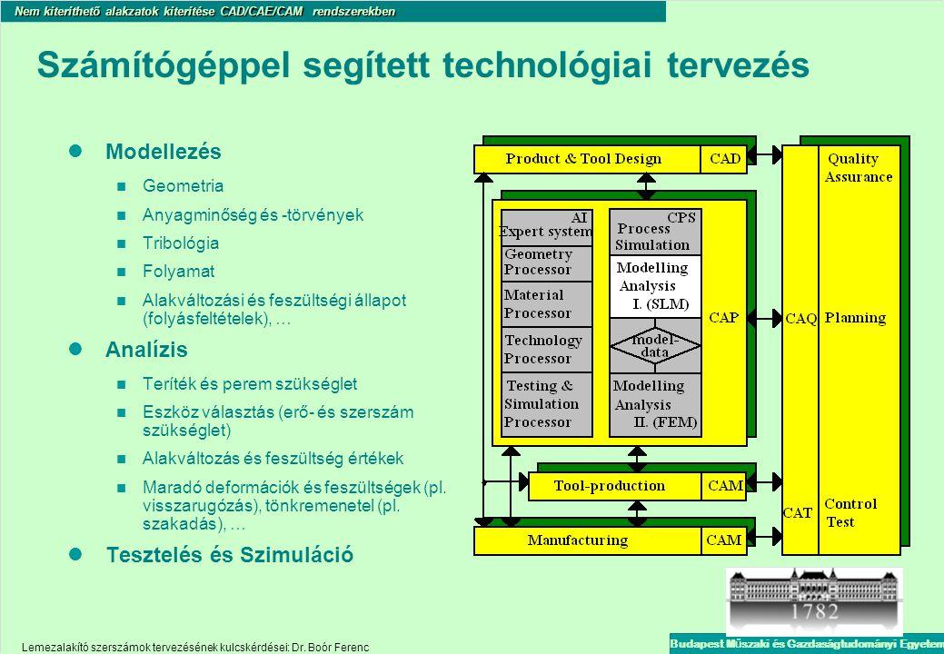 Számítógéppel segített technológiai tervezés