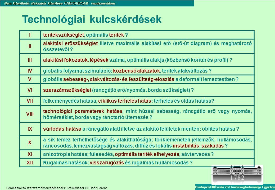 Technológiai kulcskérdések