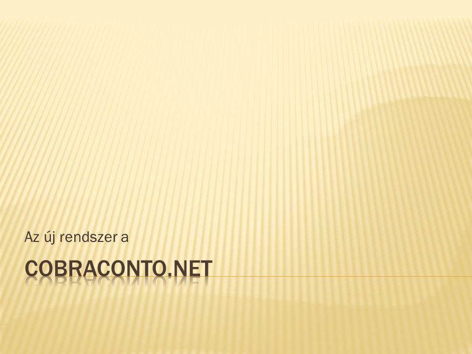 Az új rendszer a CobraConto.NET