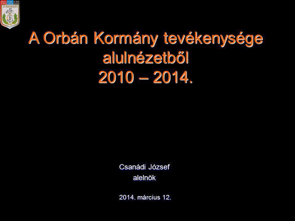 A Orbán Kormány tevékenysége alulnézetből 2010 – 2014.