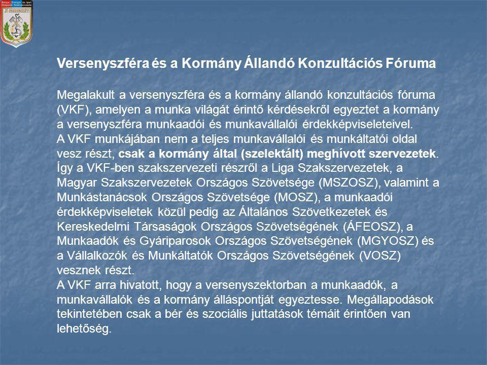 Versenyszféra és a Kormány Állandó Konzultációs Fóruma