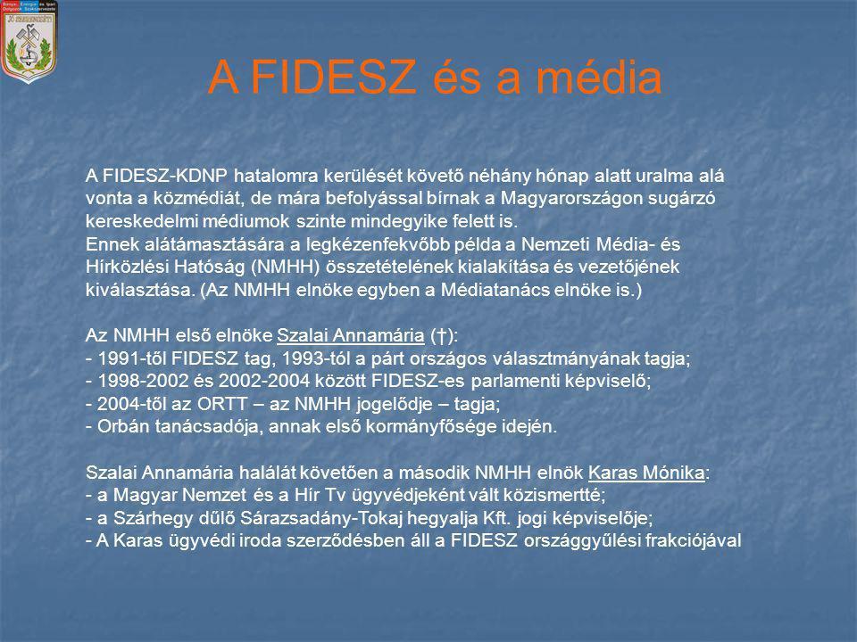 A FIDESZ és a média