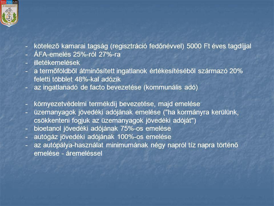 kötelező kamarai tagság (regisztráció fedőnévvel) 5000 Ft éves tagdíjjal