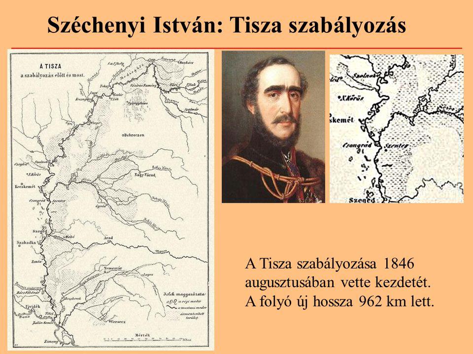 Széchenyi István: Tisza szabályozás
