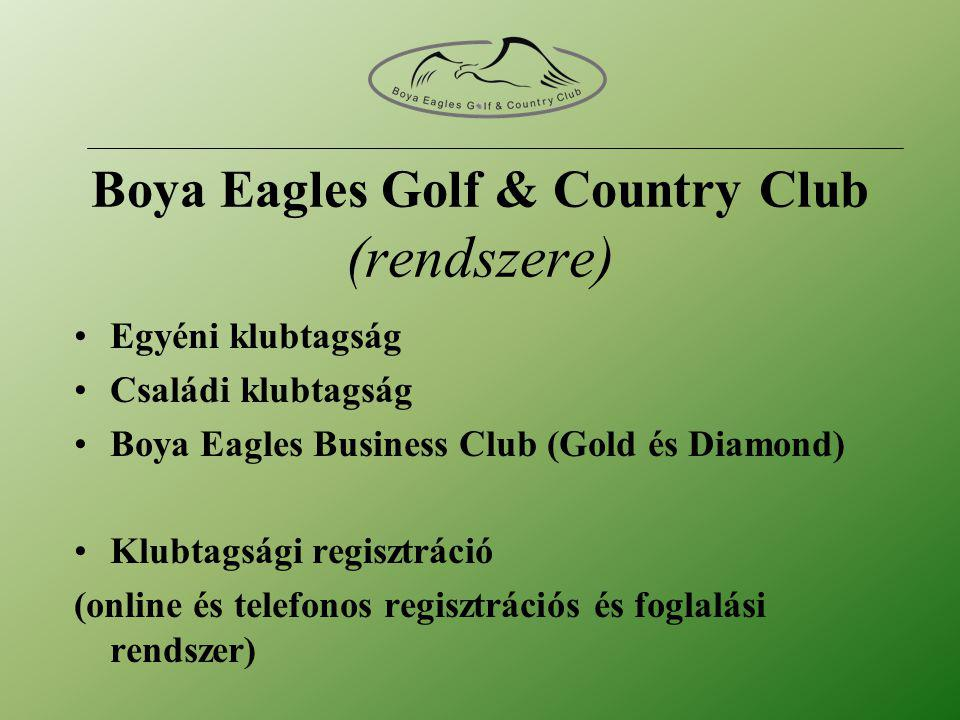 Boya Eagles Golf & Country Club (rendszere)