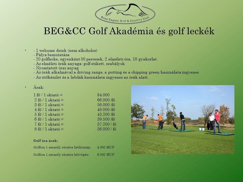 BEG&CC Golf Akadémia és golf leckék