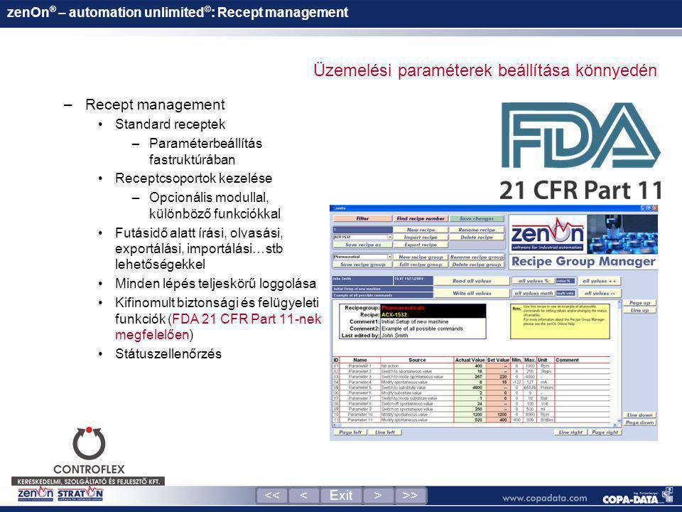 zenOn® – automation unlimited©: Recept management