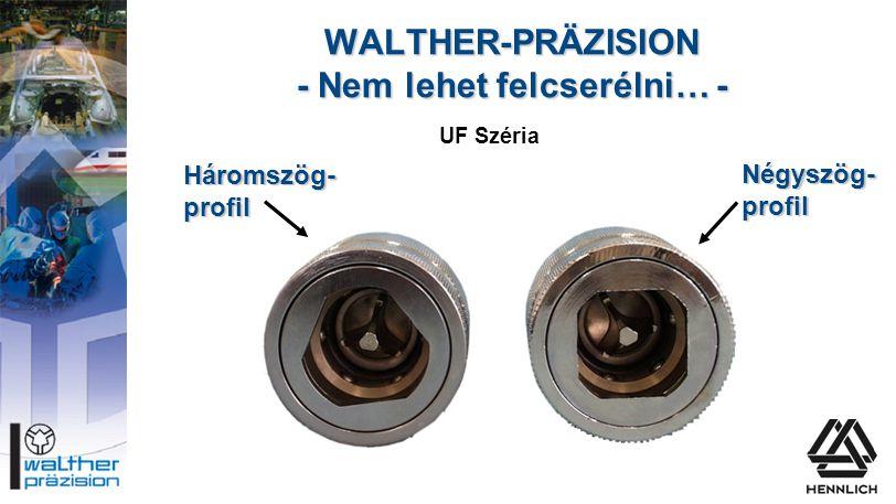 WALTHER-PRÄZISION - Nem lehet felcserélni… -