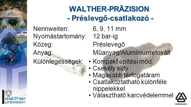 WALTHER-PRÄZISION - Préslevgő-csatlakozó -