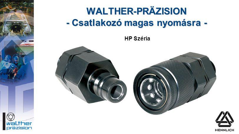 WALTHER-PRÄZISION - Csatlakozó magas nyomásra -
