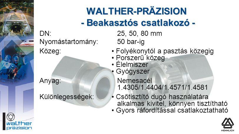 WALTHER-PRÄZISION - Beakasztós csatlakozó -