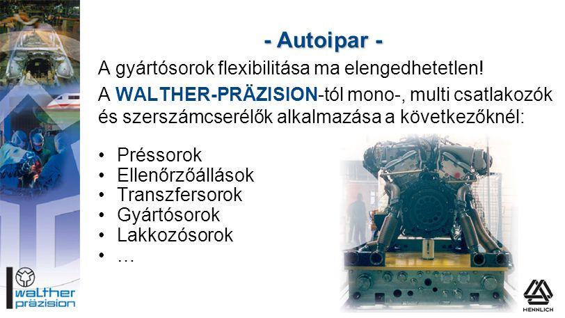 - Autoipar - A gyártósorok flexibilitása ma elengedhetetlen!