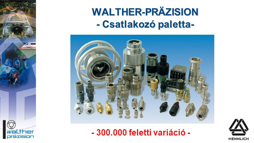 WALTHER-PRÄZISION - Csatlakozó paletta-