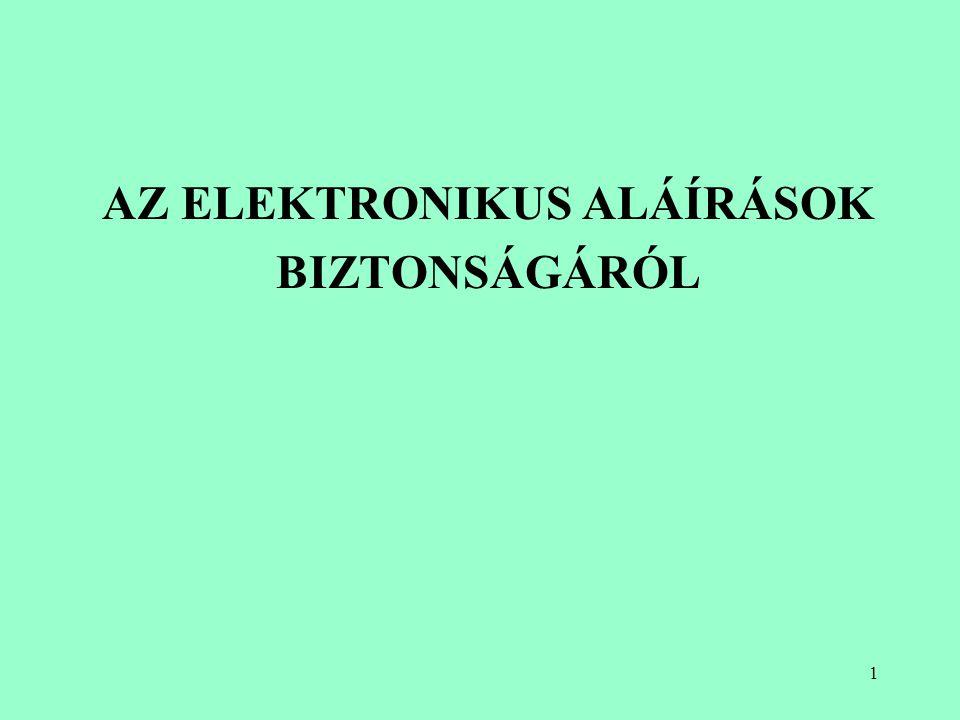AZ ELEKTRONIKUS ALÁÍRÁSOK